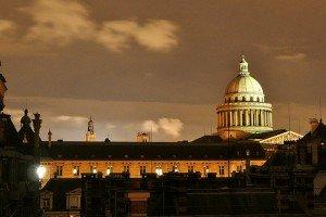 vue Pantheon de nuit